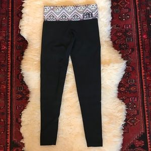 Pink by Victoria's Secret Cropped Yoga Pants
